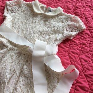 Hartstrings | Soft lacy ivory dress | 2T-3T